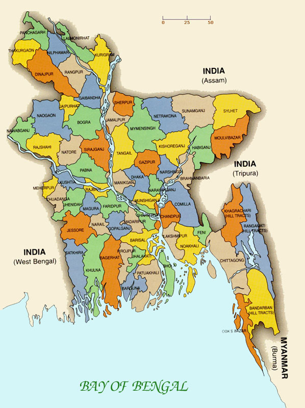 districts of bangladesh map Inter District Rice Water Productivity Differences In Bangladesh districts of bangladesh map